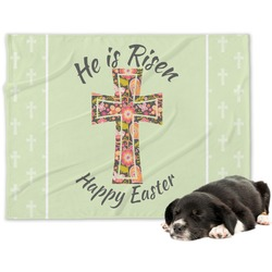 Easter Cross Minky Dog Blanket