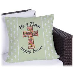 Easter Cross Outdoor Pillow