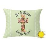 Easter Cross Outdoor Throw Pillow (Rectangular)