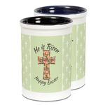Easter Cross Ceramic Pencil Holder - Large