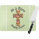 Easter Cross Rectangular Glass Cutting Board