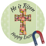Easter Cross Round Fridge Magnet