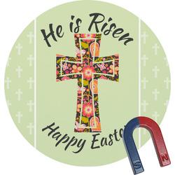 Easter Cross Round Magnet