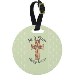 Easter Cross Round Luggage Tag