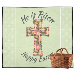 Easter Cross Outdoor Picnic Blanket
