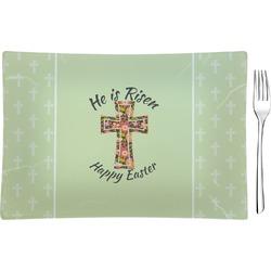 Easter Cross Glass Rectangular Appetizer / Dessert Plate - Single or Set