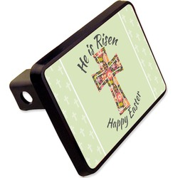 "Easter Cross Rectangular Trailer Hitch Cover - 2"""