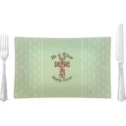 Easter Cross Rectangular Glass Lunch / Dinner Plate - Single or Set