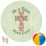 Easter Cross Round Beach Towel