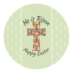 Easter Cross Round Decal