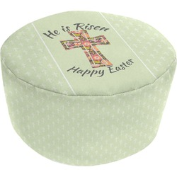 Easter Cross Round Pouf Ottoman