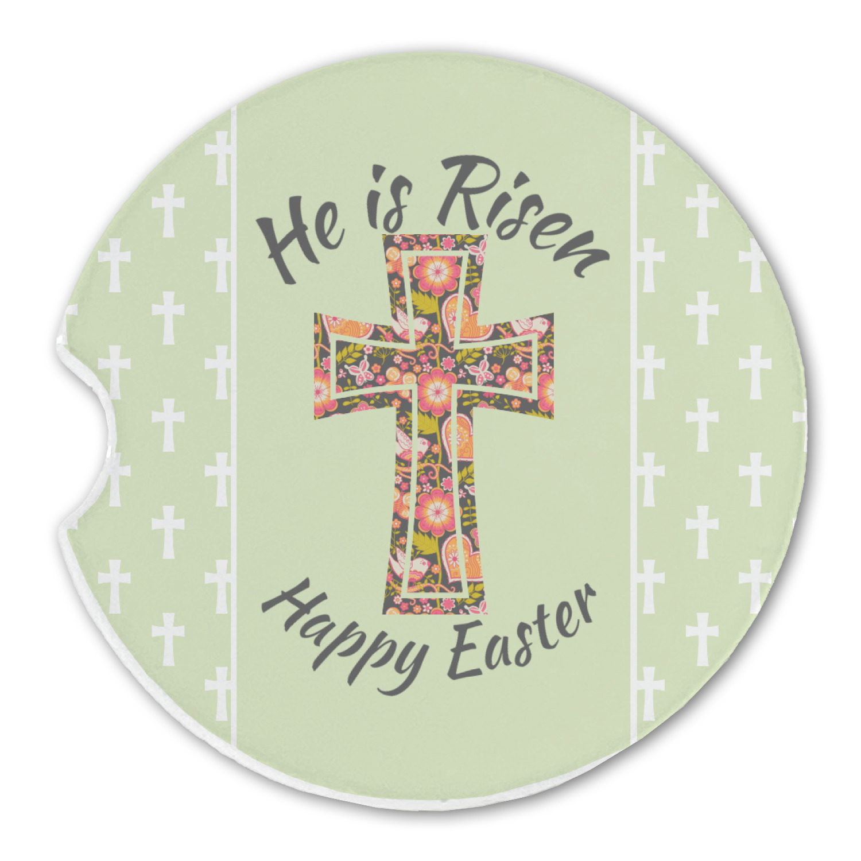 Easter Cross Sandstone Car Coasters Youcustomizeit