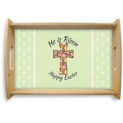 Easter Cross Natural Wooden Tray