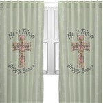 Easter Cross Sheer Curtains