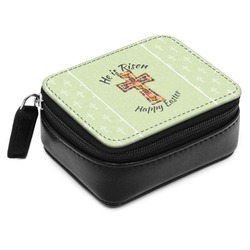 Easter Cross Small Leatherette Travel Pill Case