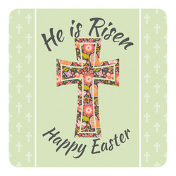Easter Cross Square Decal - Custom Size