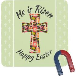 Easter Cross Square Fridge Magnet