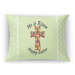 Easter Cross Rectangular Throw Pillow Case