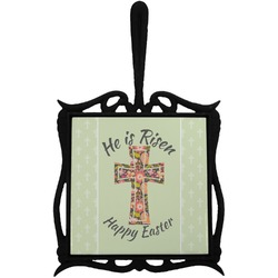Easter Cross Trivet with Handle