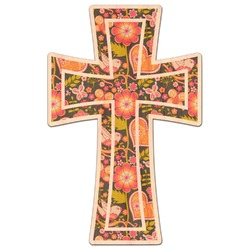 Easter Cross Genuine Maple or Cherry Wood Sticker