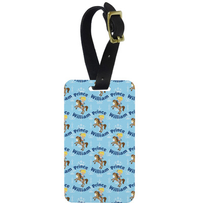 Custom Prince Aluminum Luggage Tag (Personalized)