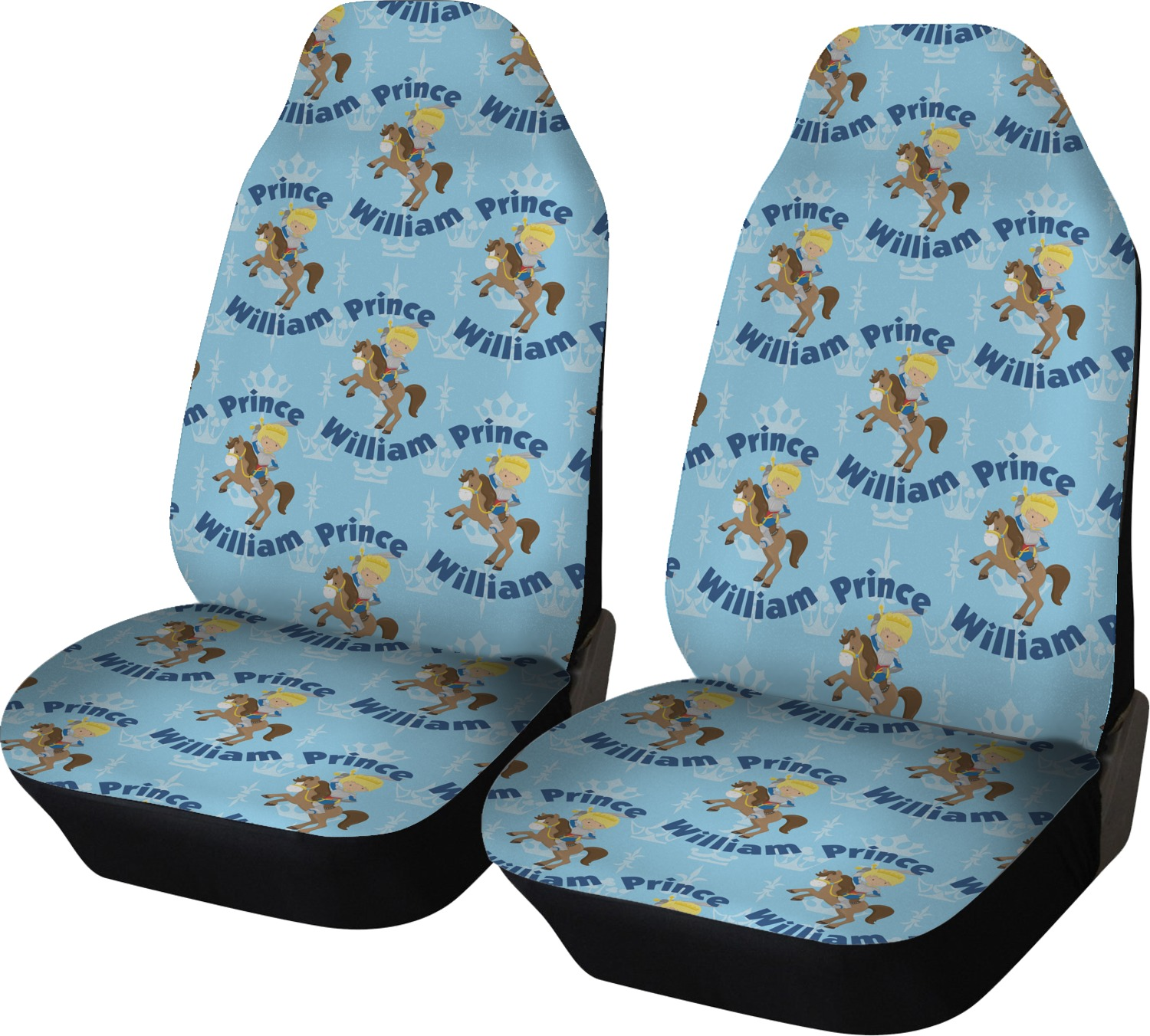 Custom Prince Car Seat Covers (Set Of Two) (Personalized