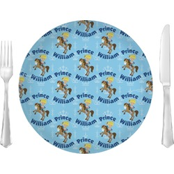 """Custom Prince 10"""" Glass Lunch / Dinner Plates - Single or Set (Personalized)"""