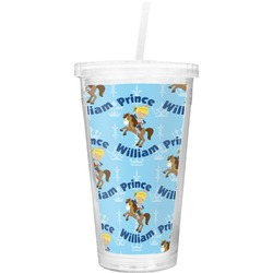 Custom Prince Double Wall Tumbler with Straw (Personalized)