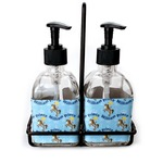 Custom Prince Soap & Lotion Dispenser Set (Glass) (Personalized)