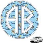 Custom Prince Monogram Car Decal (Personalized)