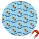 Custom Prince Round Car Magnet (Personalized)