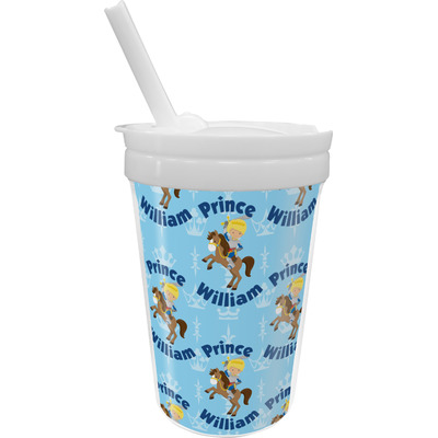 Custom Prince Sippy Cup with Straw (Personalized)