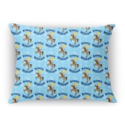Custom Prince Rectangular Throw Pillow Case (Personalized)