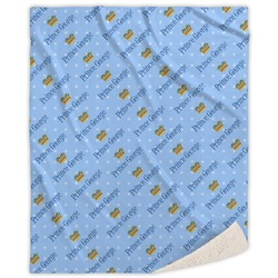 Prince Sherpa Throw Blanket (Personalized)