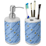 Prince Bathroom Accessories Set (Ceramic) (Personalized)