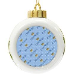 Prince Ceramic Ball Ornament (Personalized)