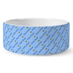 Prince Ceramic Dog Bowl (Personalized)