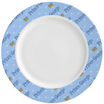Prince Ceramic Dinner Plates (Set of 4) (Personalized)