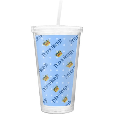 Prince Double Wall Tumbler with Straw (Personalized)