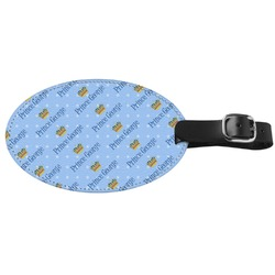 Prince Genuine Leather Oval Luggage Tag (Personalized)