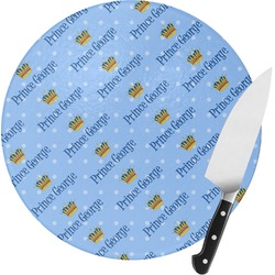 Prince Round Glass Cutting Board (Personalized)