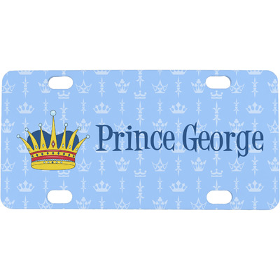 Prince Mini / Bicycle License Plate (4 Holes) (Personalized)