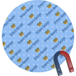 Prince Round Magnet (Personalized)