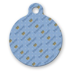 Prince Round Pet Tag (Personalized)