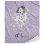 Ballerina Sherpa Throw Blanket (Personalized)