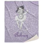 Ballerina Sherpa Throw Blanket (Personalized)
