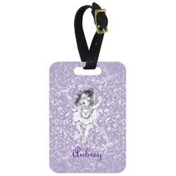 Ballerina Metal Luggage Tag w/ Name or Text