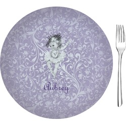 "Ballerina 8"" Glass Appetizer / Dessert Plates - Single or Set (Personalized)"