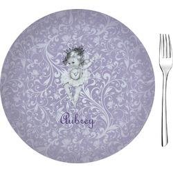 "Ballerina Glass Appetizer / Dessert Plate 8"" (Personalized)"
