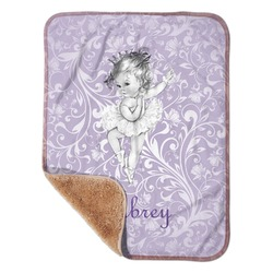 "Ballerina Sherpa Baby Blanket 30"" x 40"" (Personalized)"